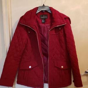 Nwot wine colored London fog hooded jacket sz S